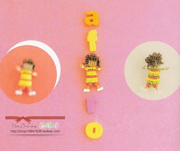 Куколка для брелока или рыбка из бисера.  А может и для ожерелья а не брелока.  Как нравится вам.  Всего 3 игрушки( 2...