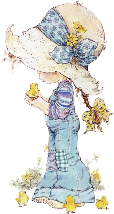 Сара Кей изображает на своих рисунках романтичную и наивную вселенную: детство, заполненное счастьем...
