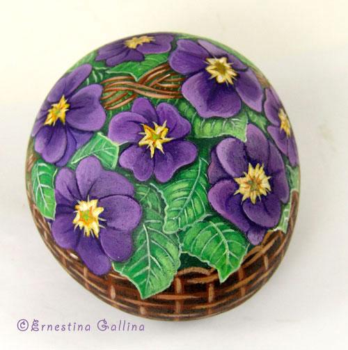 Роспись цветы на камнях цветами мастер класс