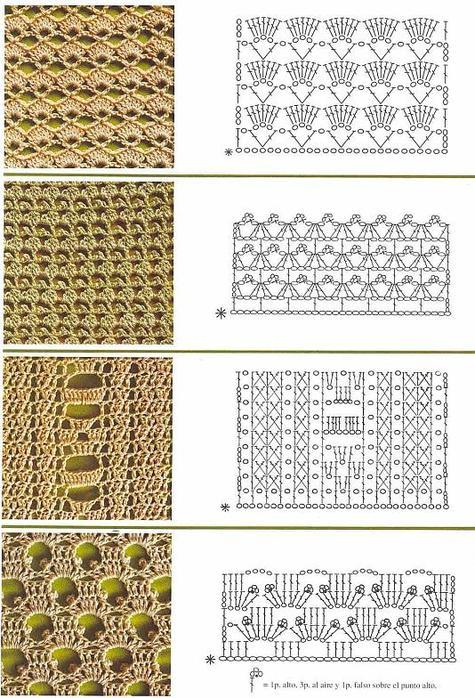 Вязание крючком узоры и схемы для начинающих бесплатно