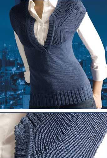 Вязание женщинам спицами. жилетка женская 46 размер вязание.
