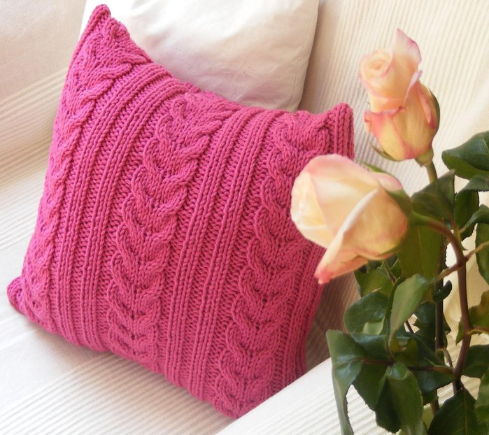 Вязаные подушки Вяжем подушки