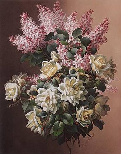 Картины с цветами двух художников Paul de Longpré и Raoul de Longpré...