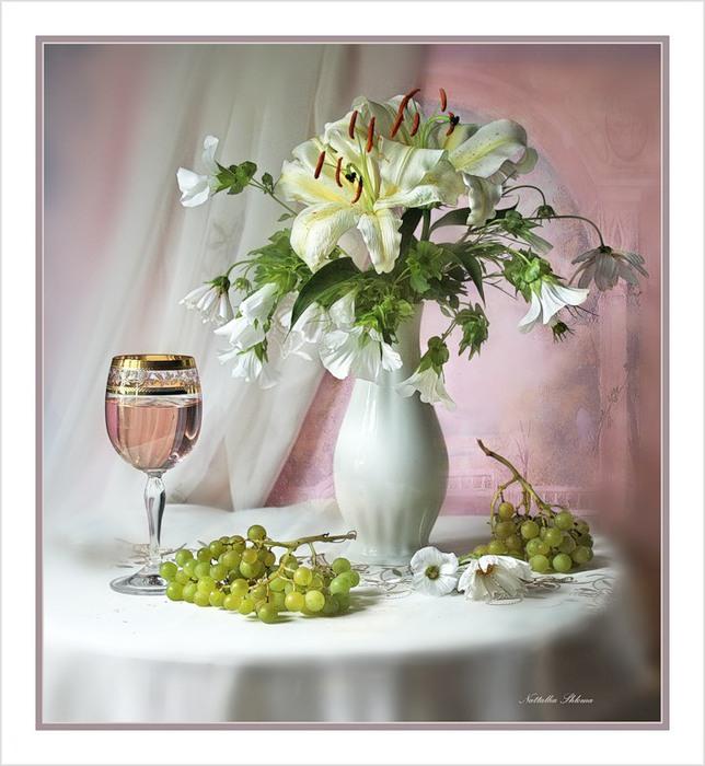 Бокал сухого Белого вина Я поднимаю в вашу честь, подруги.  За сердце, за натруженные руки Я выпью все до...