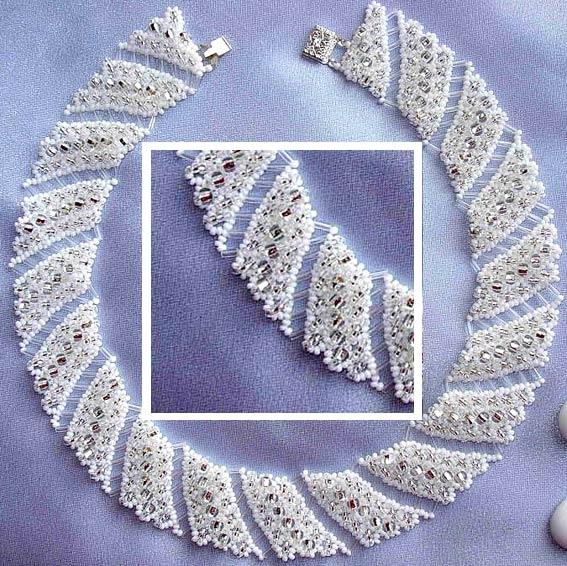 плетение из бисера колье схемы - Исскуство схемотехники.