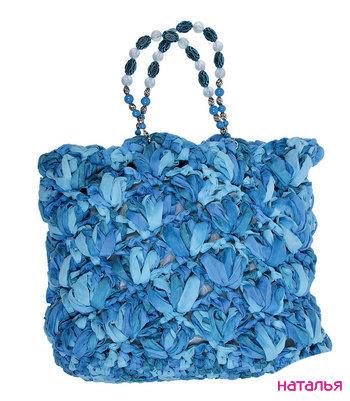 схемы вязаные летние сумки.