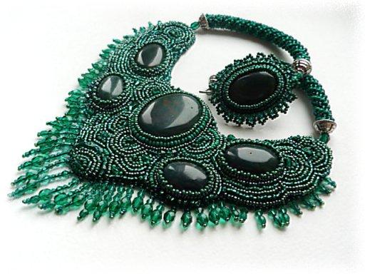 кактус из... плетение из бисера воротничка со схемой. как оплести бусинку бисером. схема плетения турецкого жгута из...
