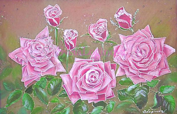 """предпросмотр. таблица цветов. схема. palena29.  Автор схемы  """"Розы """".  Размеры: 190 x 122 крестов.  0. Картинки."""