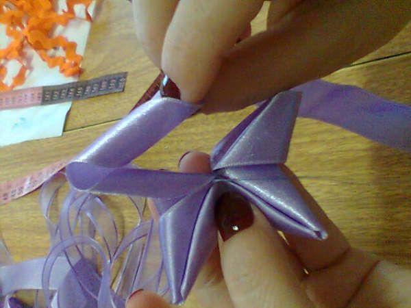 Звезда из лент своими руками