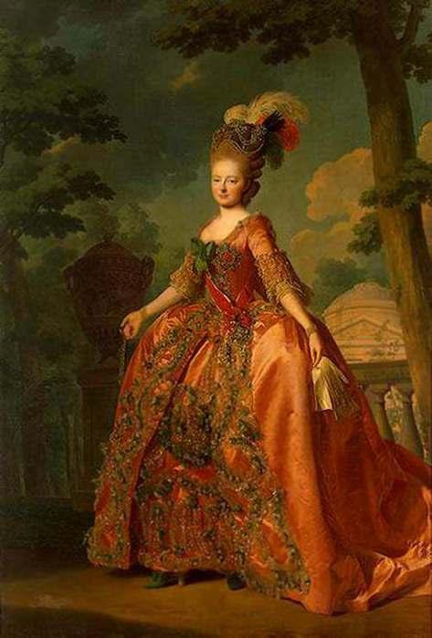 Платья женские 18го века в россии