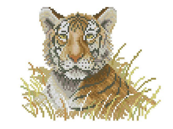 Посмотреть и бесплатно скачать другие схемы тигров можно по следующим ссылкам.  Добавляю еще 15 схем для вышивки...