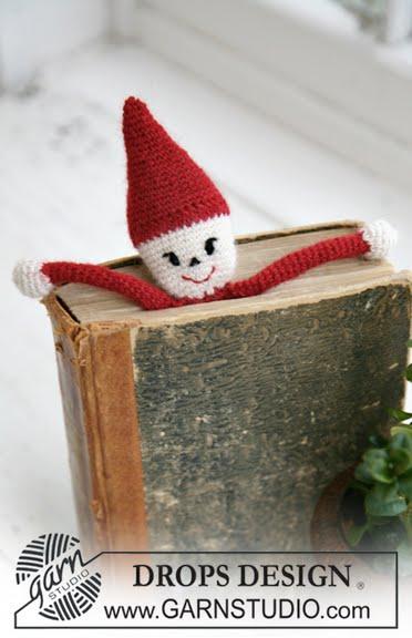"""Закладка для книг  """"Рождественский Санта """" ."""
