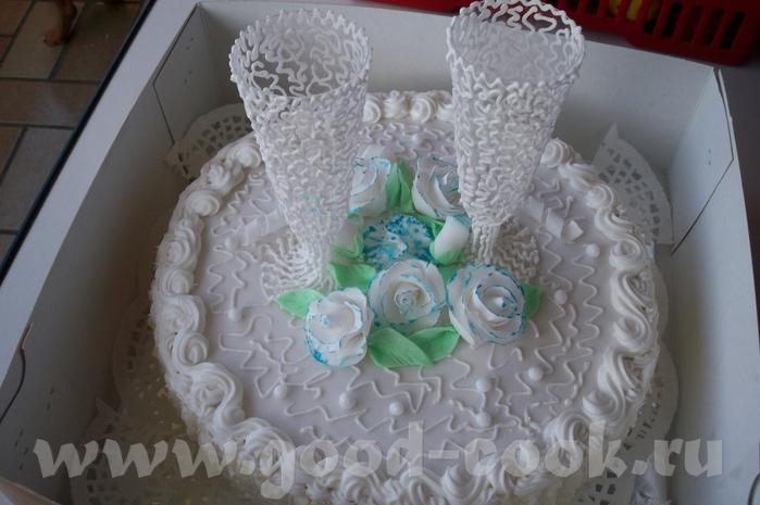 Свадебный торт своими руками украшения