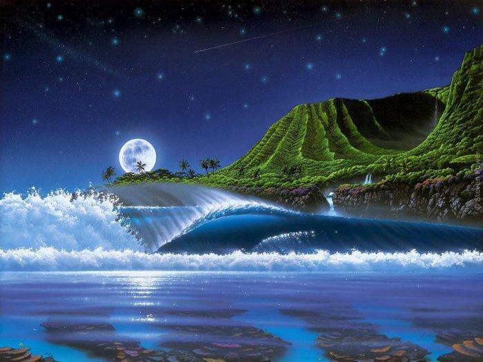 """Вышивка крестом  """"Луна """".  При желании вы можете не только скачать эту замечательную схему - бесплатно..."""