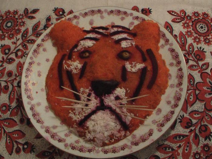 Салат тигрица фото