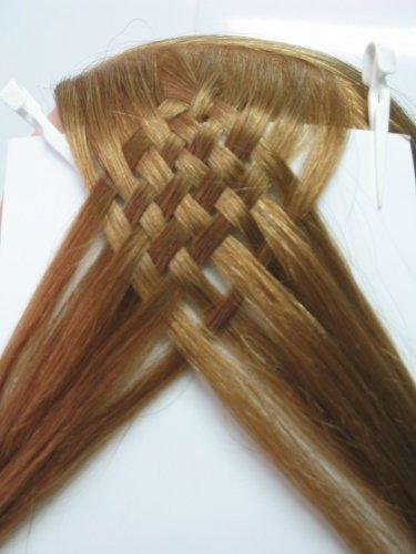 Начало плетения косы из 12ти