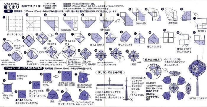 Схемы кусудамы - схемы