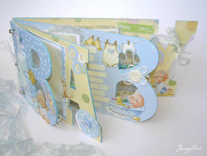 Альбом для новорожденной своими руками скрапбукинг