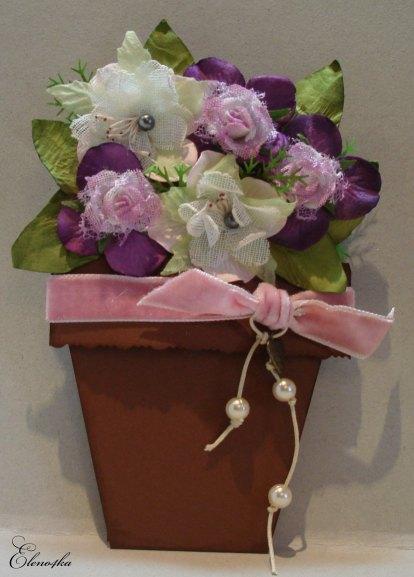 Открытка в виде цветка