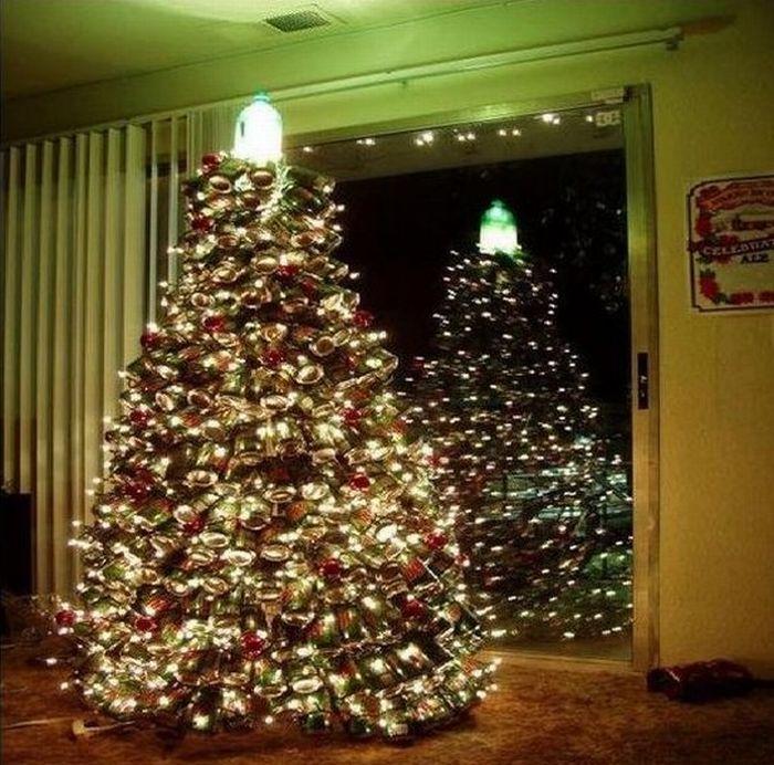 Хочешь необычную елку на новый год. В чем проблема, сделай сам.