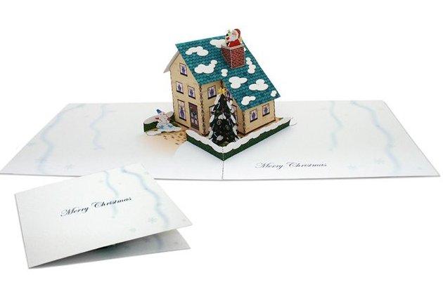 Объемные открытки схемы шаблоны на рождество
