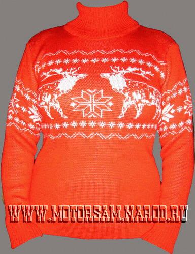пуловер спицами женский. как связать свитер с оленями, вязаные вещи для.