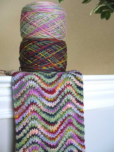 вязание спицами узор зигзаг.