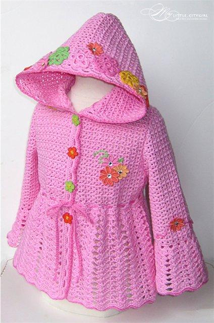 вязание крючком детской одежды на девочку