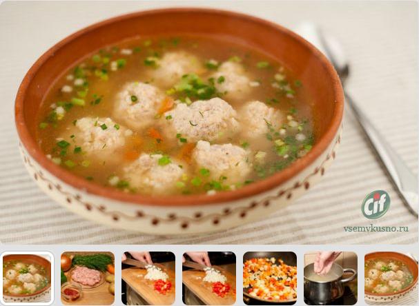 Тефтели суп рецепт пошагово в
