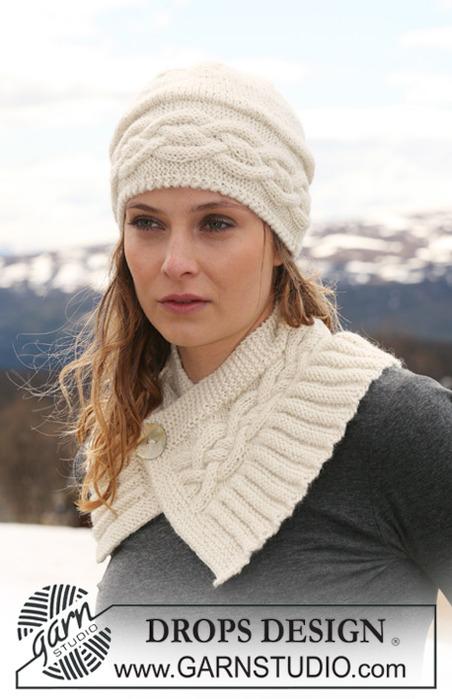 схемы вязания шапки с косами.