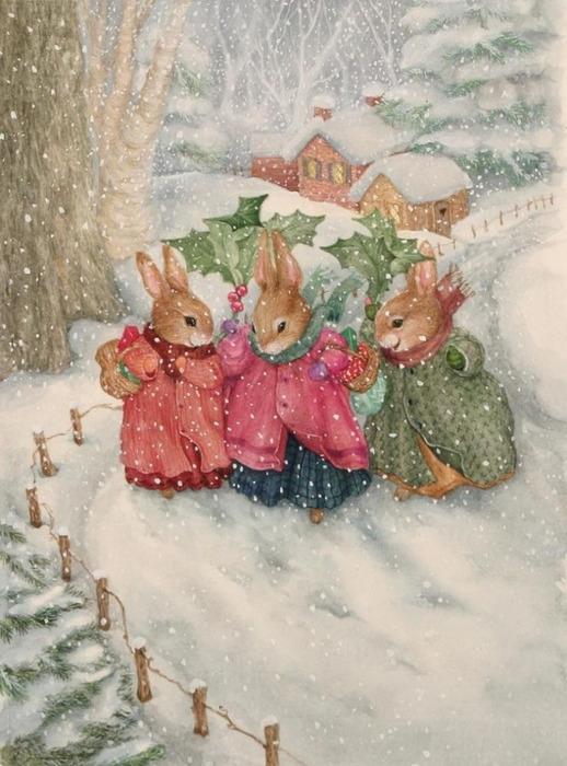 Сказочный мир кроликов от Сьюзен Вилер.