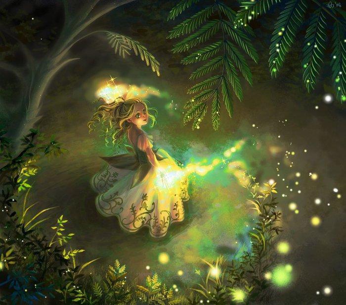 Татишка и лесные фонарики ПОЧИТАЙТЕ ДЕТЯМ Начиналась осень, а значит, и время переселения татишек - крохотных...