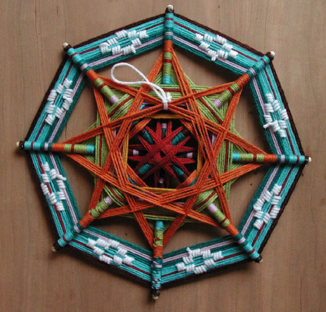 Плетение мандалы мастер класс подробно #8