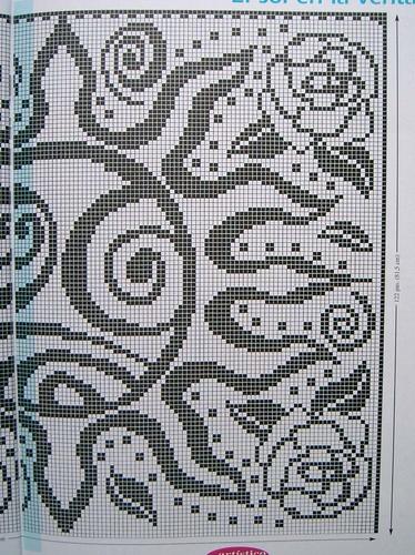 Филейное вязание солнце 95
