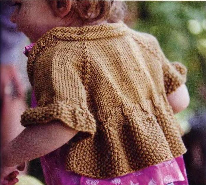 юбка для девочки на спицах схема описания