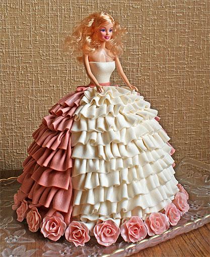 Идеи оформления торта кукла Барби. / Торты на заказ / РаботаемДома