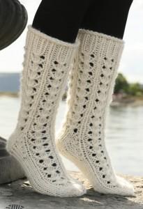 вязаные ажурные носки спицами со схемами - Шикарные узоры!