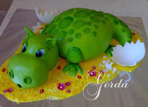 Детский торт без мастики своими руками рецепт с фото
