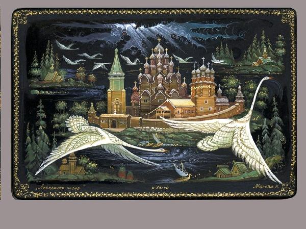 Лаковая миниатюра хохломская роспись