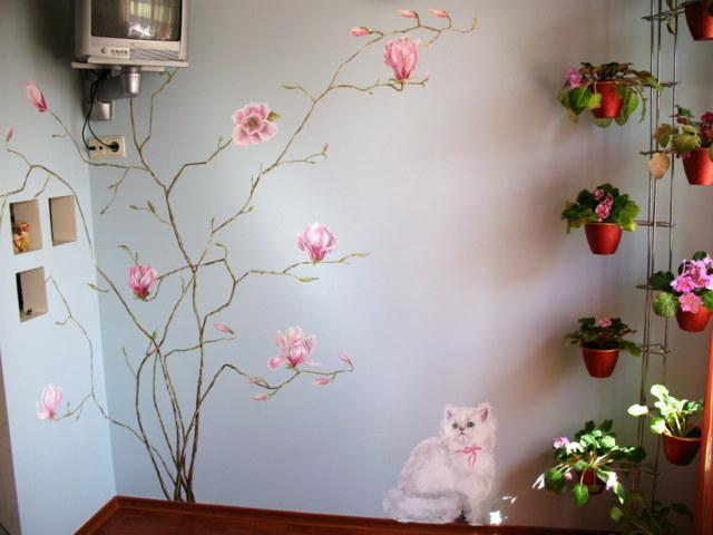 Красивые цветы декор на стены