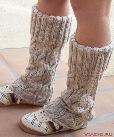Вязаные гетры на обувь.