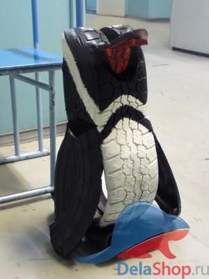 Пингвин из покрышки