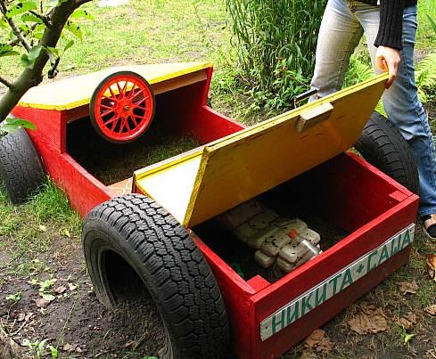 Машина для детского сада своими руками