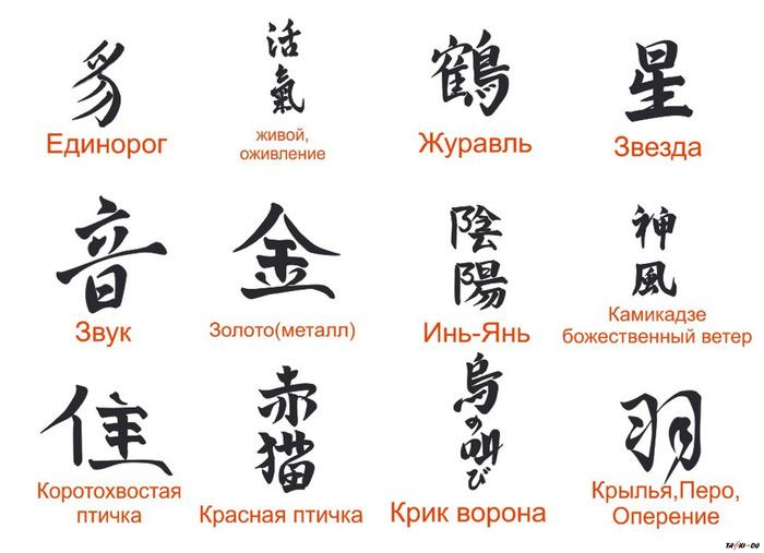 иероглифы рисунки: