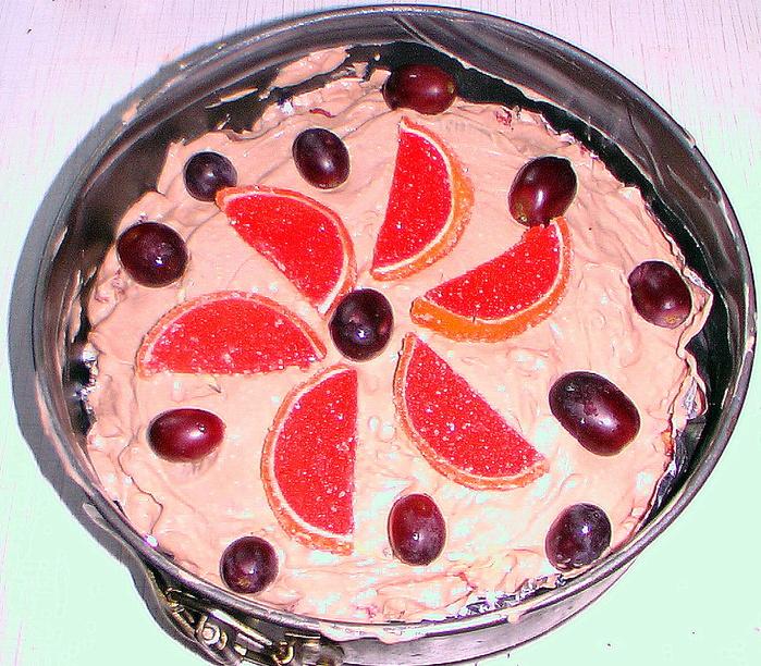 Шоколадный творожный торт-мороженое