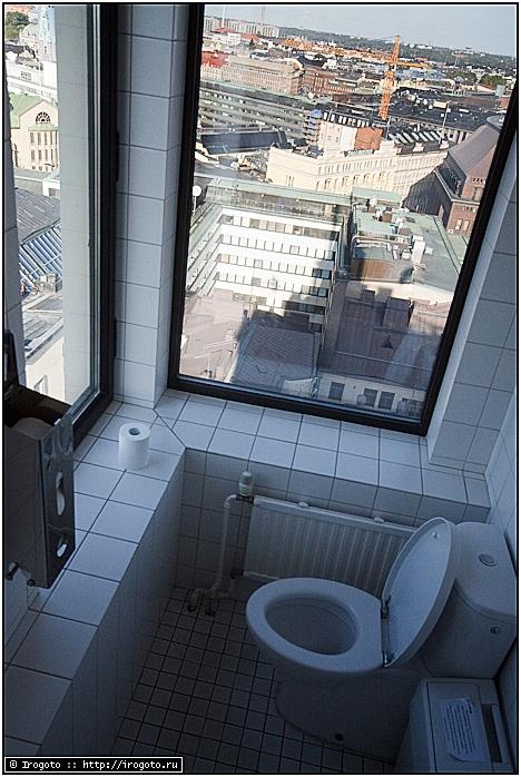 Вид на Хельсинки с унитаза в Ateljee