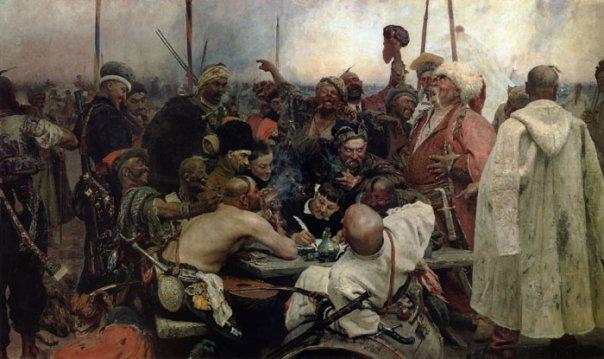 казаки пишут письмо султану