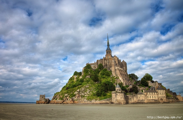 Мон-Сен-Мишель, Нормандия, Франция,Mont-St-Michel, Normandy, France, http://bestgay.spb.ru