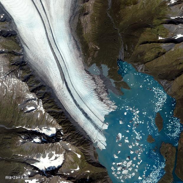 Ледники: портрет из космосА