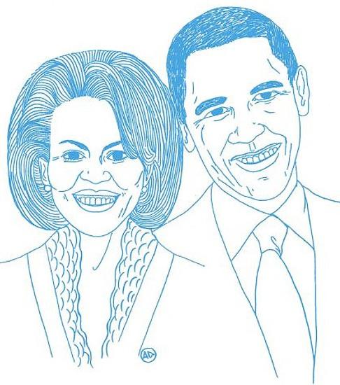 Рисунки мировых лидеров Карлы Бруни Саркози
